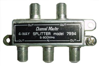 4 Way Splitter UHF-VHF