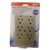 Zenith 6 Plug AC Outlet Multiplier Surge Protector 6 Pack