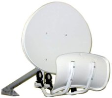 Toroidal Satellite Dish Dual Reflector (Holds up to 8 LNBs)
