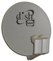 Dish Network Satellite Dish 500 (2 Single LNBF) used